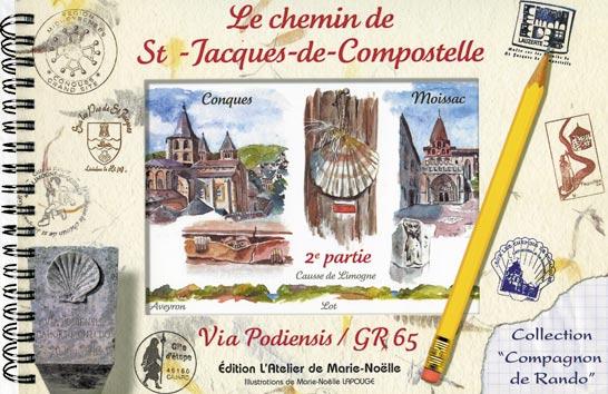 livre carnet d 39 aquarelles sur le chemin de st jacques de compostelle de conques moissac en. Black Bedroom Furniture Sets. Home Design Ideas